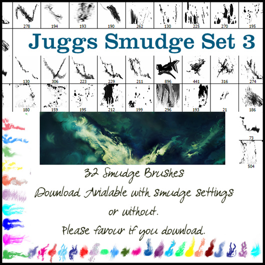 Smudge Brush Set 3 WITH settin