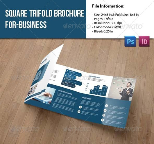 Square Trifold Brochure for Business