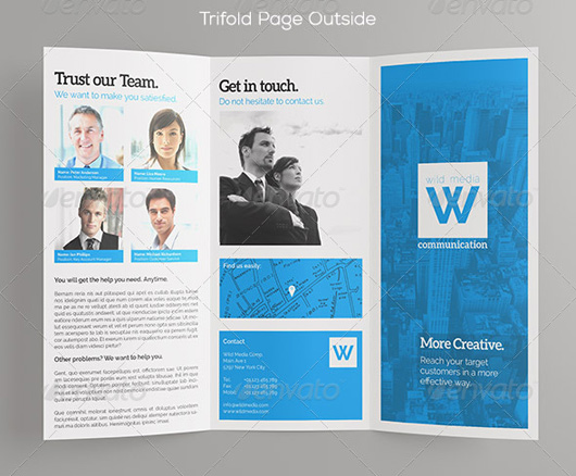 TriFold Business Brochure Template Letter A4