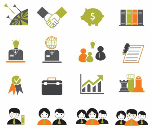 Vector icon Business icons