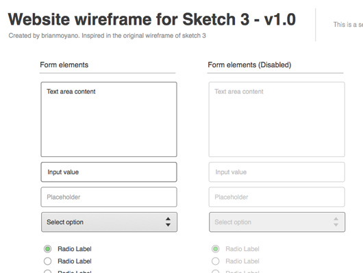 Wireframe UI Sketches
