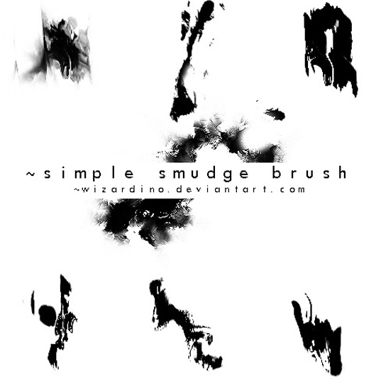 simple smudge brush