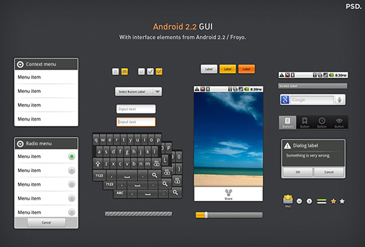Android Mobile PSD Mockup Templates