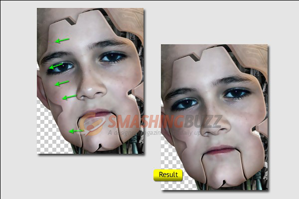 "Do the same way for the ""Face"" layer."