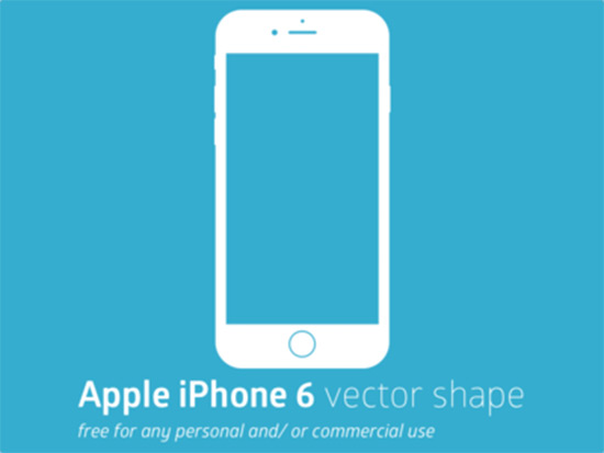 Apple iPhone 6 Vector Shape (free)