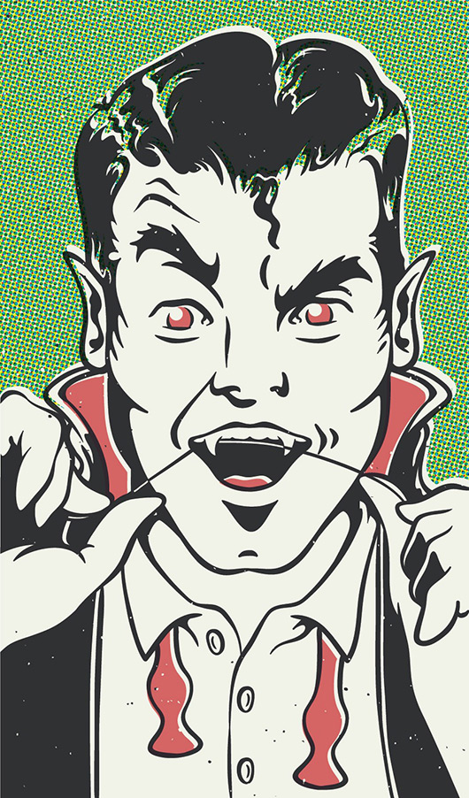 Dracula getting ready for the Monster Mash