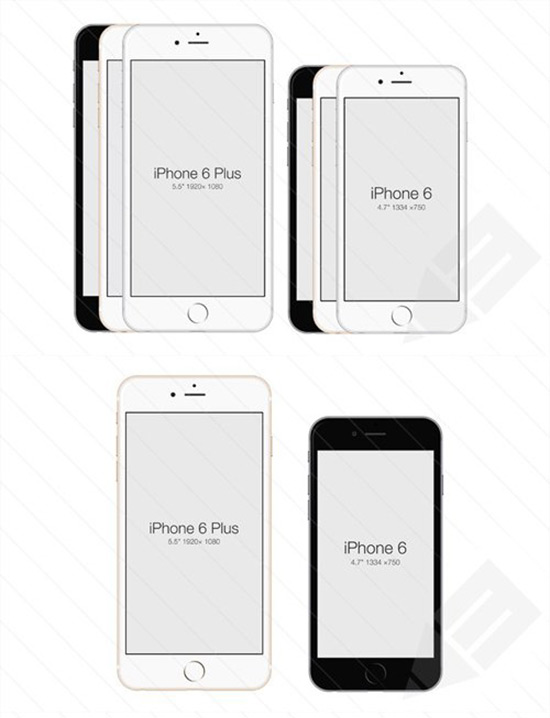 PSD Template iPhone 6 Mockup
