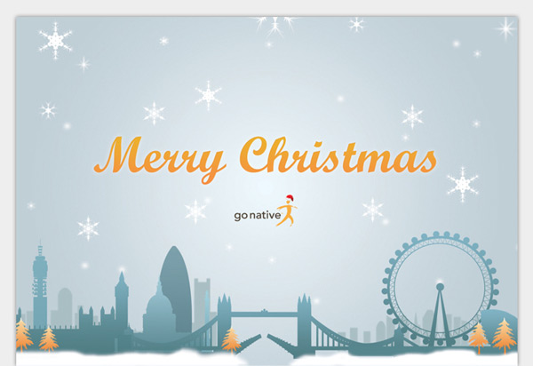 Christmas E-Cards for Go Native