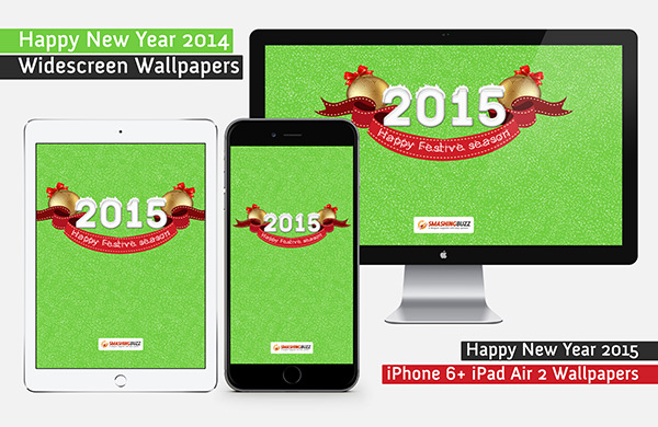 Happy New Year 2015 Wallpaper Pack - PC, iPhone 6 Plus and iPad Air 2