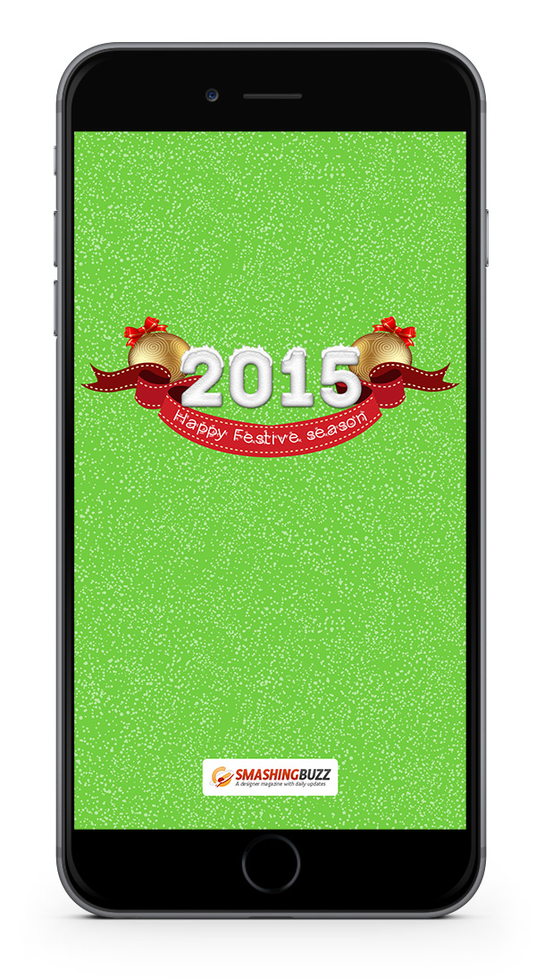 Happy New Year 2015 Wallpaper for iPhone 6 Plus