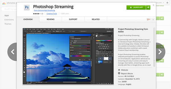 Chrome will be Equip Photoshop Soon