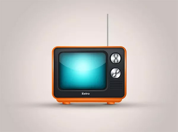 Create a Cute Television Icon From Scratch