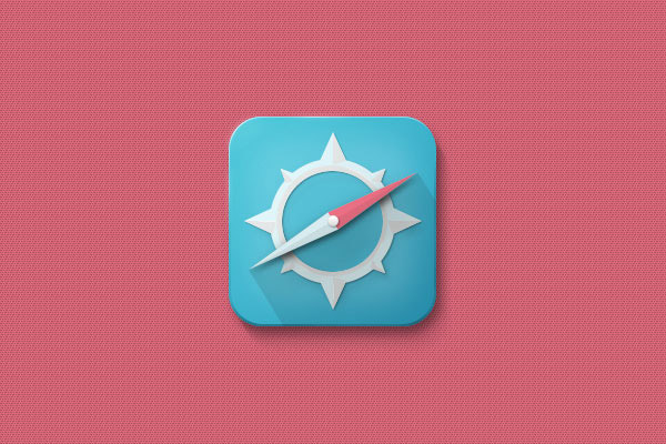 Draw a Compass Icon With a Long Shadow in Adobe Photoshop
