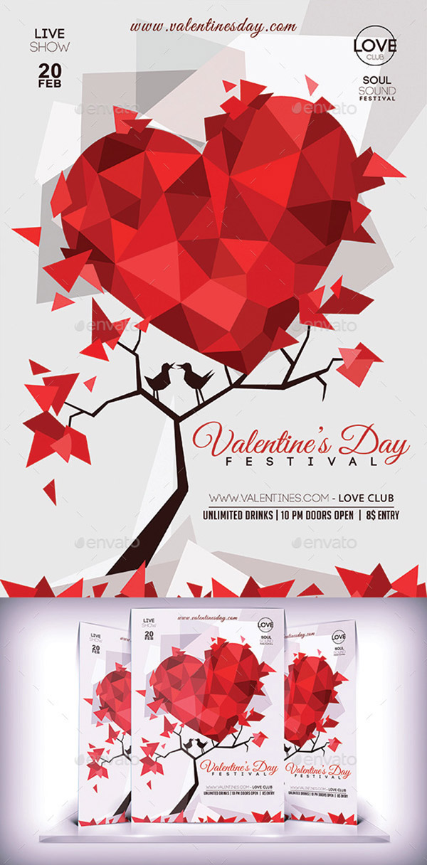 Valentines Day Lovers Flyer