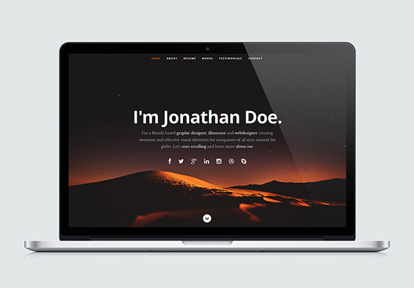 Ceevee - Free One Page Website HTML Template