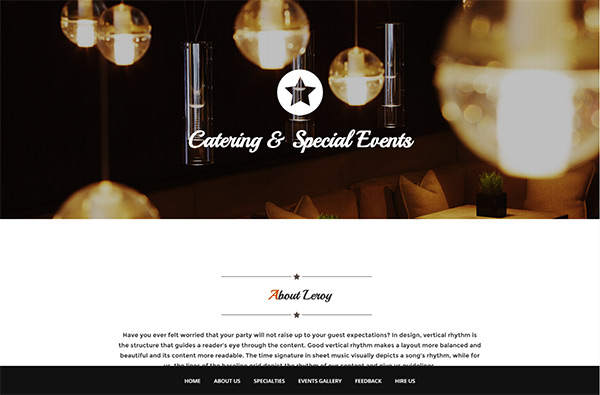 Leroy – Free Onepage Bootstrap Template