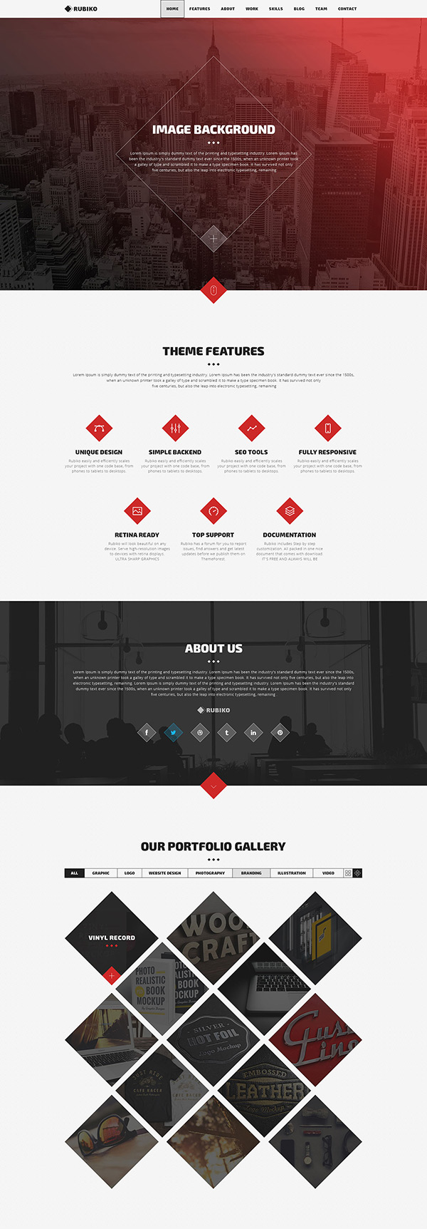 Rubiko - One Page Website HTML Template