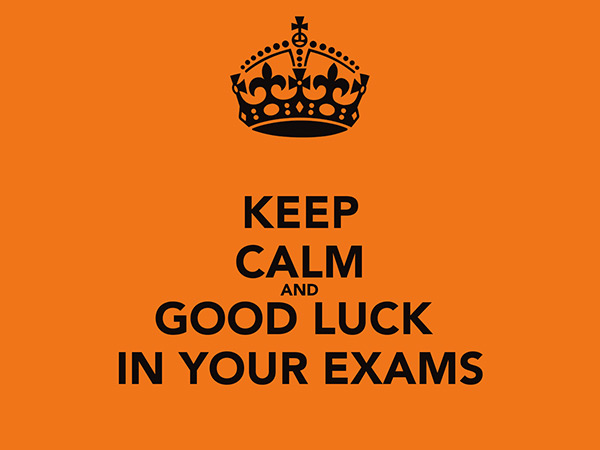 keep calm and good luck in your exam quotes