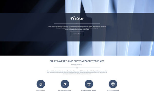 Artica - PSD One Page Web Template