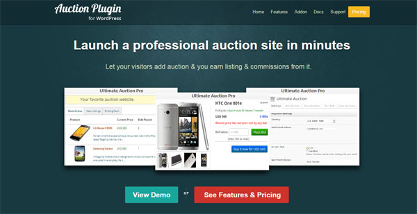 Launch a professional auction site in minutes