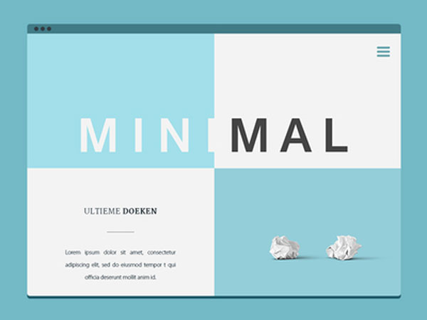 Minimal Website Free PSD