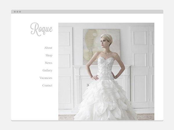 Roque Website  Free PSD