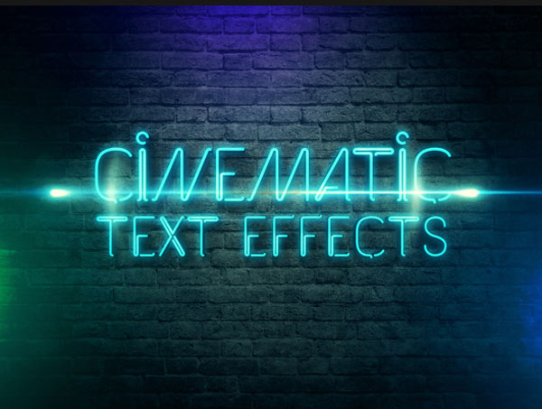 3D Cinematic Text Effects