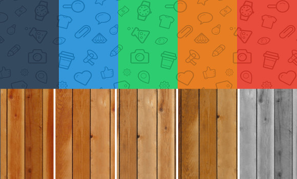 Icon and Wood patterns