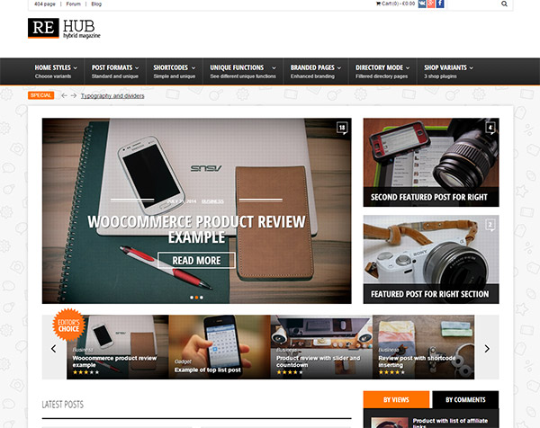REHub - Directory, Shop, Coupon, Affiliate Theme