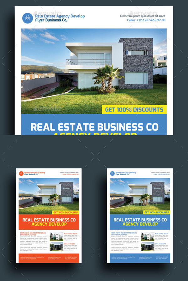Real Estate Agency Business Flyers