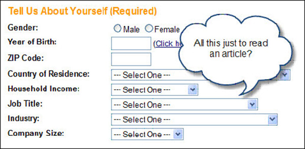 Too Much of Functionality That Requires Signing Up