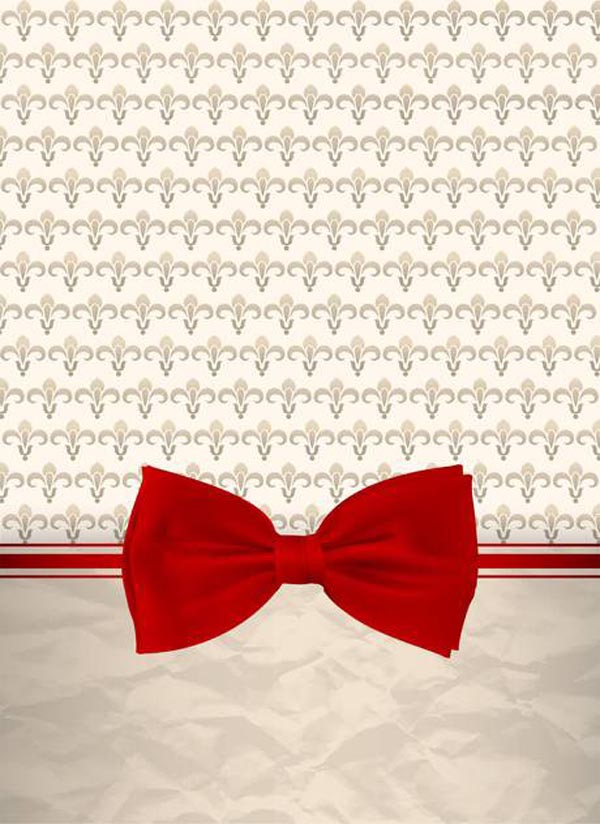 Retro background with bow