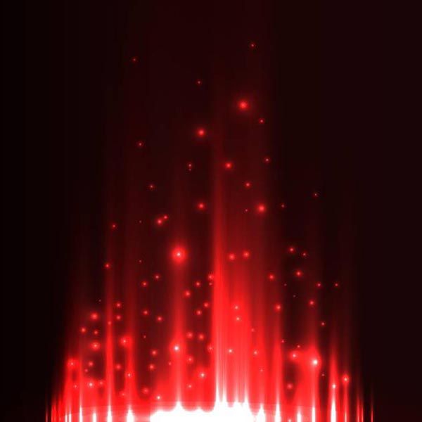 Red aurora borealis background