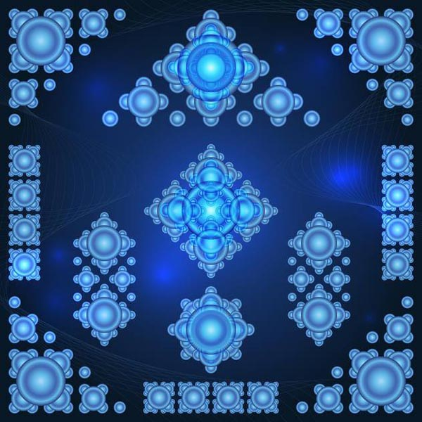 free vector with snowflakes