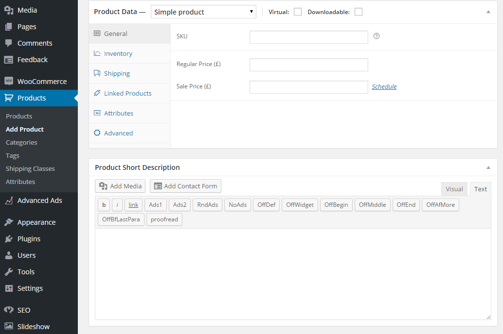 easily manage all your products using other tabs