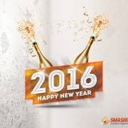 2016 Happy New Year Wallpaper with Celebrations