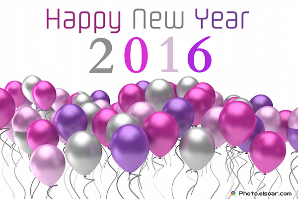 Happy New Year 2016 Balloons Wallpaper