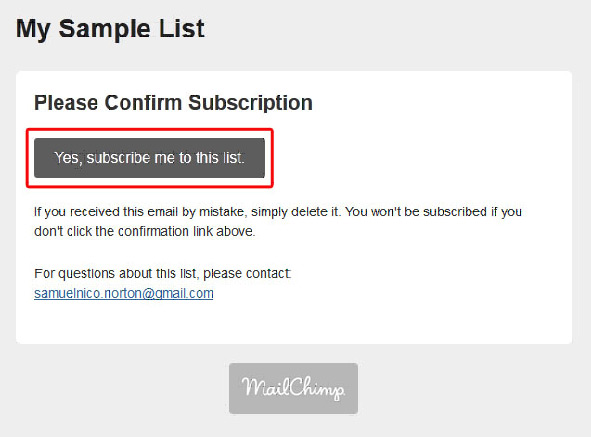 confirming your subscription
