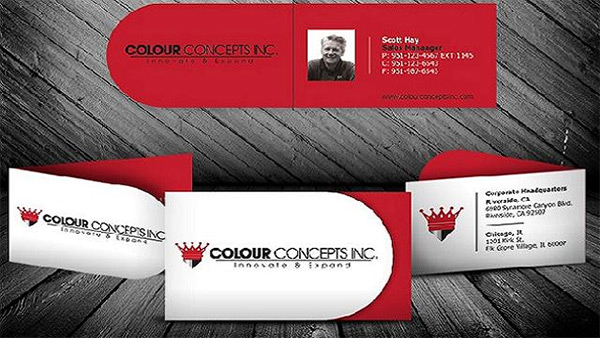 Colour Cocept Rounded Folded Business Card