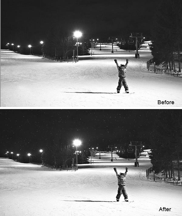 How to Add Falling Snow to a Photo in 6 Easy Steps