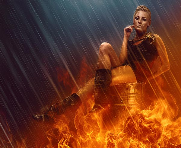 LEARN HOW TO MIX FIRE & RAIN EFFECTS
