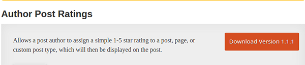 Author Post Ratings