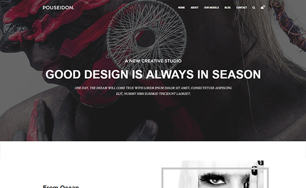 Pouseidon – Free HTML5 Model Agency Bootstrap Template