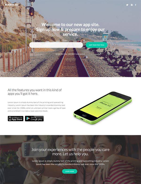 Sumo Landing - One Page Bootstrap Template