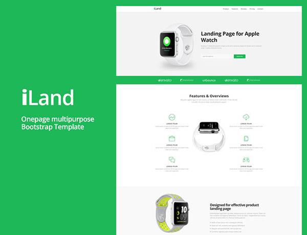 iLand – Multipurpose Landing Page HTML Template