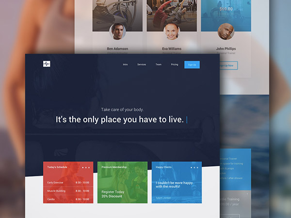 Cardio One Page Bootstrap Template