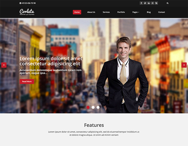 Corlate - Free Responsive Business HTML Template