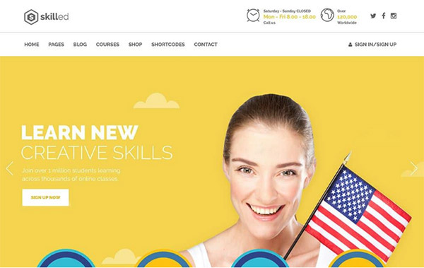 Skilled Education WP Theme