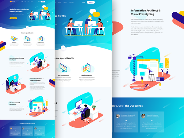 Creative Agency Landing Page Sketch Resource