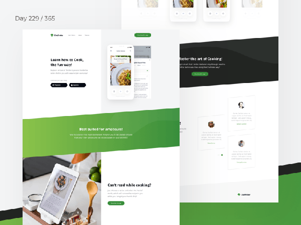 Recipes App Landing Page